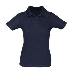 Camisa Gola Polo Piquet Feminina