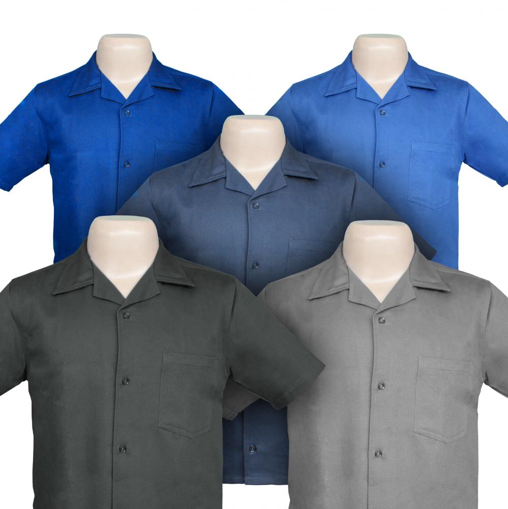 f2d62a2f2 Confecção Borges - Loja Virtual - Camisa Brim Manga Curta ou Longa