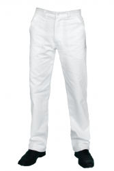 Calça Branca Masculina Meio Cós e Meio Elástico