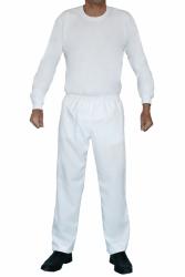 Calça Branca Oxford com Elástico para Trabalho
